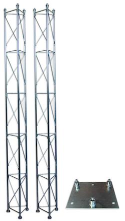 Fackverksmast, paket, belysning, Serie 250 5m (bultning)