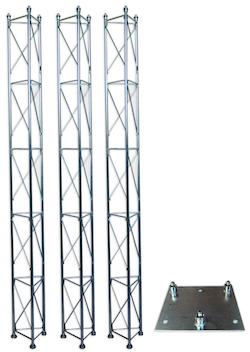 Fackverksmast, paket, belysning, Serie 250 7,5m (bultning)