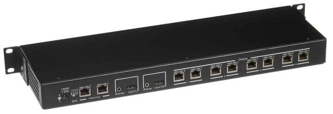 HDMI distributions hub 1x4 över 2 cat5e/6 kablar