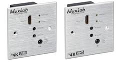 HDMI Wall-Plate Extender Mottagare, HDBT Lite, 4K, IR
