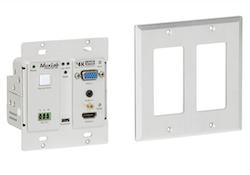 HDMI sändare för montering på vägg, Bi-Dir RS232, UHD-4K, 60 m
