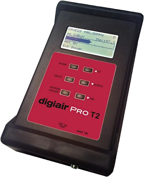 Emitor Digiair Pro T2 mätinstrument för digitaltv DVB-C / T / T2
