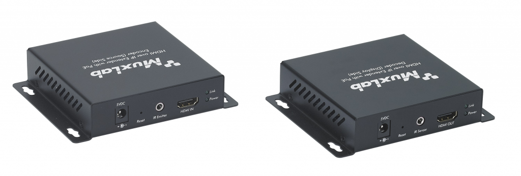 Muxlab HDMI över IP nätverk sändare, PoE, 100 m