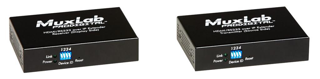 Muxlab HDMI & RS232 över IP Sändare, PoE, 100 m