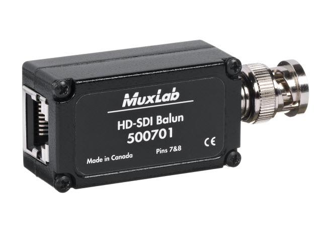 Muxlab HD-SDI balun, 120m@SD, 45m@HD