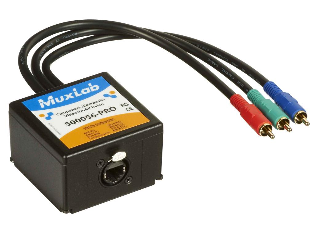 Muxlab Komponent- och komposit-video ProAV Balun