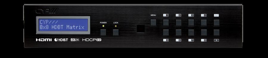 CYP/// 8x8 HDMI - HDBaseT Lite Matris, PoC, 4K, HDCP 2.2