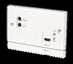 HDBaseT Lite Wallplate mottagare. 4K, PoC, RS232, IR, 60 meter