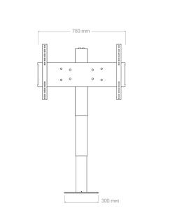 Tv - Lyft / Hiss 66cm med 360º manuell vrid