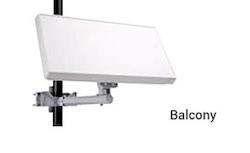 Platt Parabol med 1 LNB