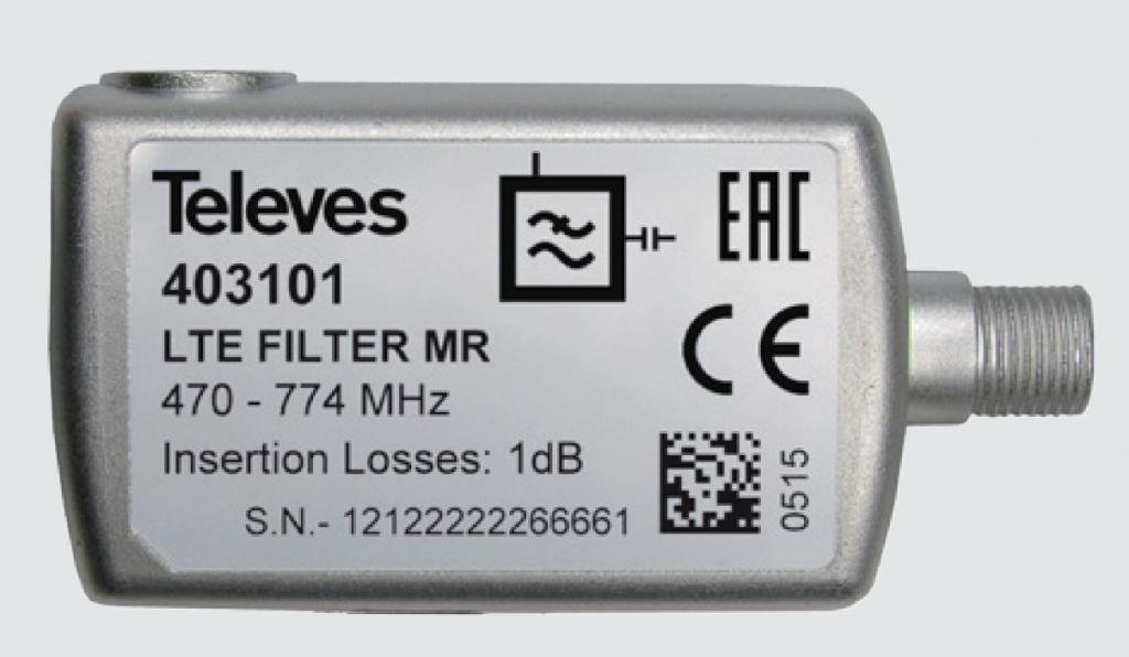 Televés LTE-57 LTE/4G filter för inomhusbruk