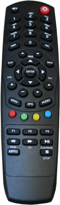 Fjärrkontroll till HD409 box.