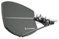 Big Bisat multifokus parabol, flera satelliter grå