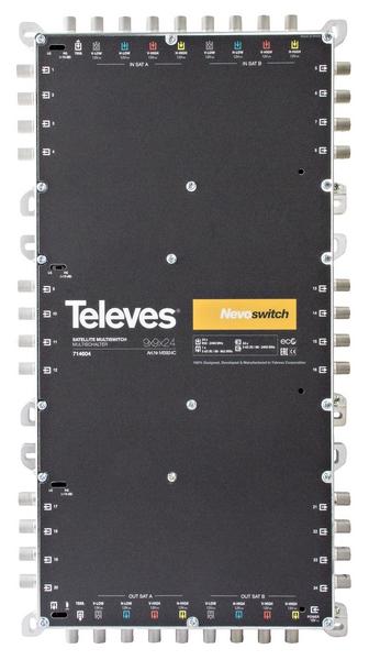 Televés Nevo Multiswitch 9 ingångar 24 utgångar med kaskad