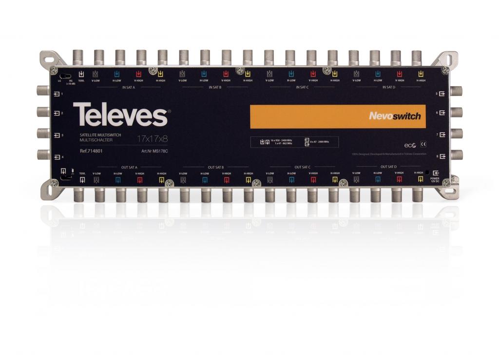 Televés Nevo Multiswitch 17 ingångar 8 utgångar med kaskad