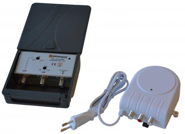 Johansson Bästa antennförstärkaren UHF / VHF nätdel LTE-skydd
