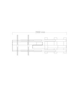Slider TV-lift 120cm sidledsförflyttning