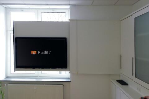 Flatlift Slider TV-lift 120cm sidledsförflyttning