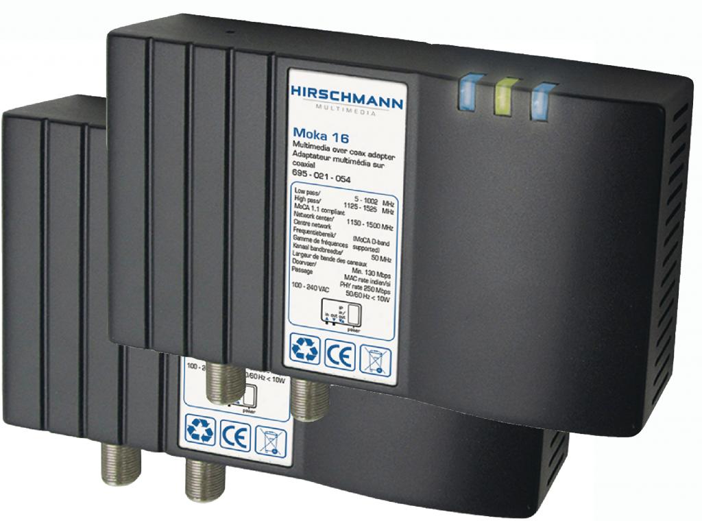 Hirschmann 2-pack MOKA 16 nätverk / IP över koax / antenn