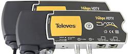 1 Gbps Nätverk / IP över koax / antenn eller el-uttag 2 pack