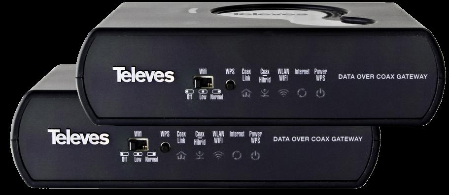 Televés Triple Play Gateway med 1 Gbit och PLC x2
