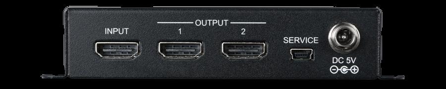 CYP/// HDMI splitter 1:2 med HDMI2.0, HDCP2.2
