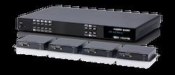 HDMI till HDBaseT Matris med 4 mott, HDCP 2.2, 4K