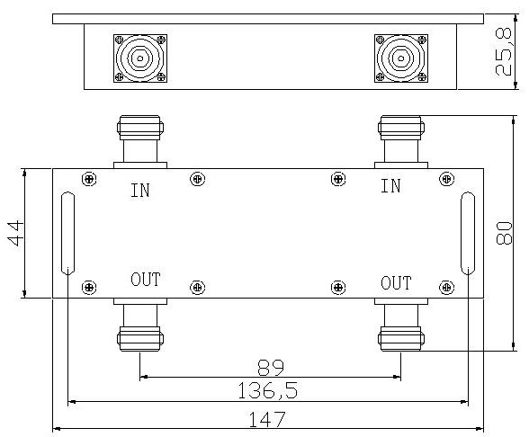 MobilePartners Hybrid Coupler 2 repeatrar till 1 nät