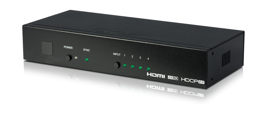 CYP/// HDMI 4:1 Switch med Auto-Switching, 4K, HDCP 2.2