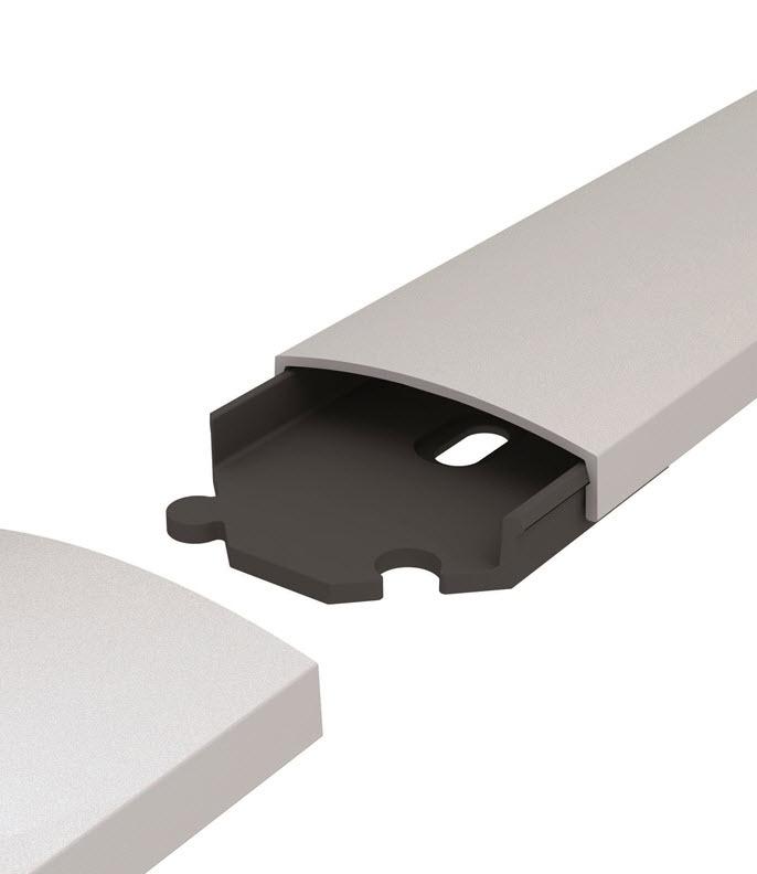 Sms Kabelkanal Aluminium / Grå  1000 x 61mm