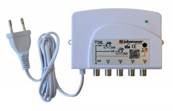 Johansson Distributionsförstärkare antenn 1:4 LTE strömmatning