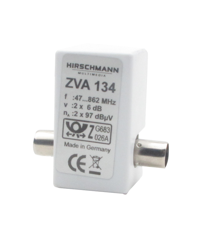 ZVA-134 Antennsplitter aktivt t-kors 2x6 db