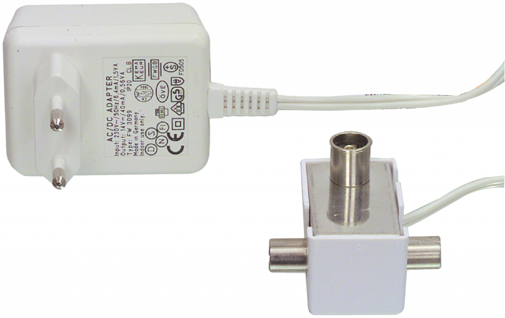 Hirschmann ZVA-134 Antennsplitter aktivt t-kors 2x6 db