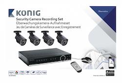 Övervakningspaket med 4 kameror och inspelare 500GB