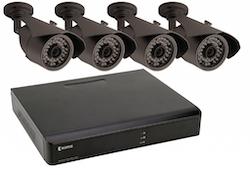 Övervakningspaket med 4 kameror och inspelare NÄTVERK