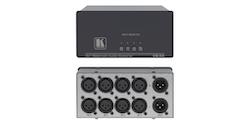 Balanserad audio switch 4 in och 1 ut