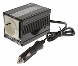 Växelriktare 12-230V 150W mod.våg med USB utgång