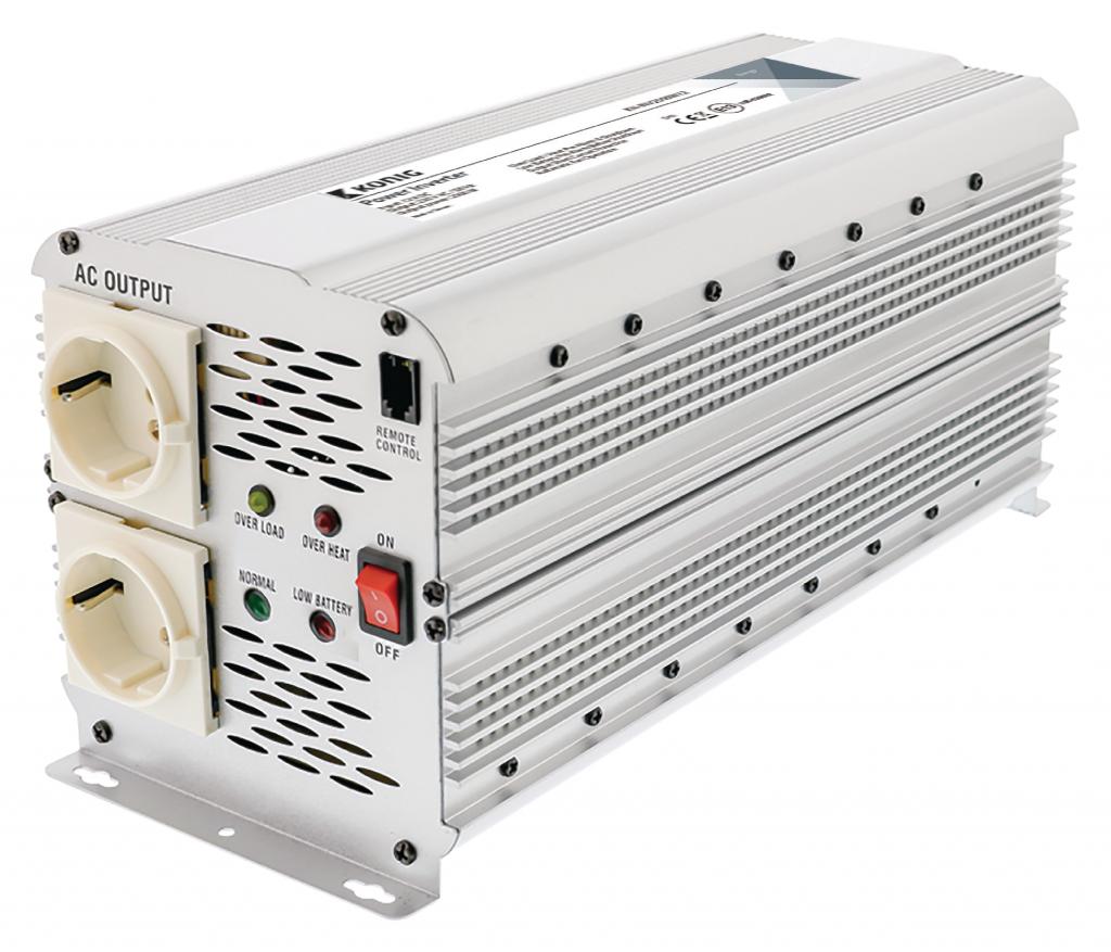 König Inverter 12-230 Volt 2500 Watt modifierad våg