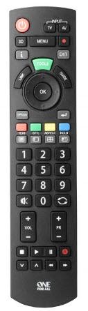 Panasonic Förprogrammerad fjärr som passar alla TV
