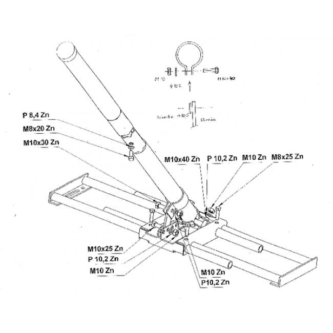 Schwaiger Takfäste / stativ för parabol / antenn