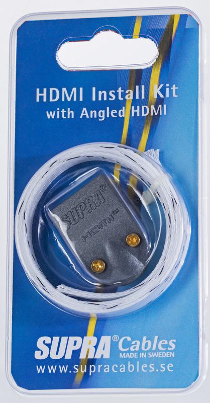 Supra HDMI INSTALL KIT MET-B/NYLON BRAID VINKLAD KONTAKT