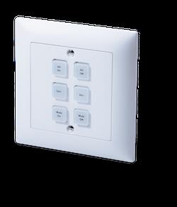 Styrbox över IP med 6 knappar, passar EURO dosor