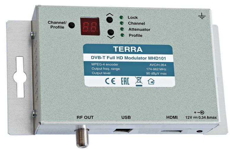 Terra COFDM RF-modulator HDMI till DVB-T