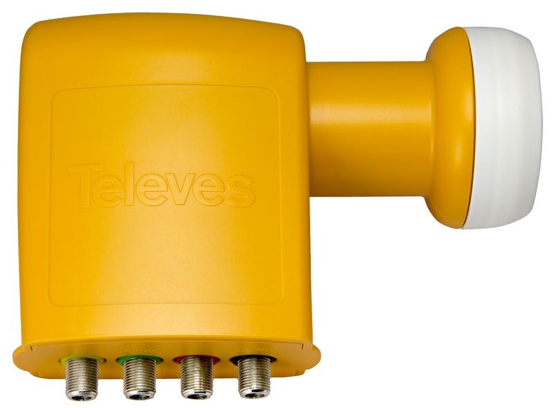 Televés LNB Quattro / 4 utgångar, NF 0.3 dB