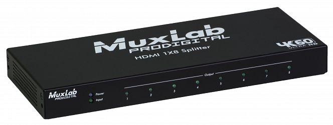 Muxlab HDMI splitter 1:8 med 4K UHD, 60 Hz