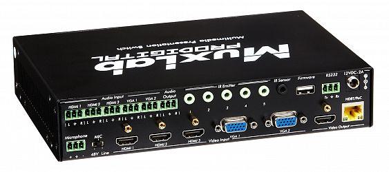Muxlab Presentation switch, 5x1 HDMI / HDBT