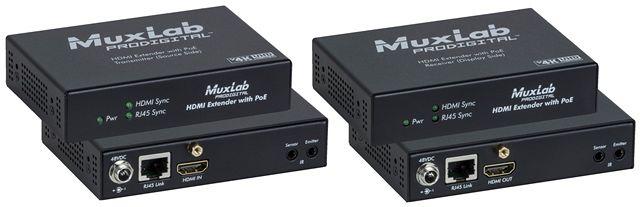 Muxlab HDMI extenderkit UHD-4K, PoE