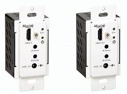 HDMI Wallplate extender kit, HDBT, UHD-4K, Decora