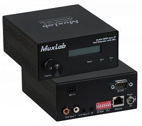 Muxlab Audio / AMP över IP, mic in & 50W/kanal, Sändare