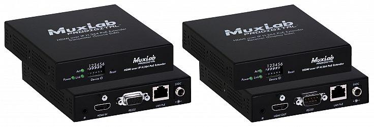 Muxlab HDMI över IP med H.264, PoE, Kit